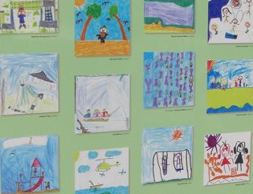 写真:子どもたちが描いた公園の絵