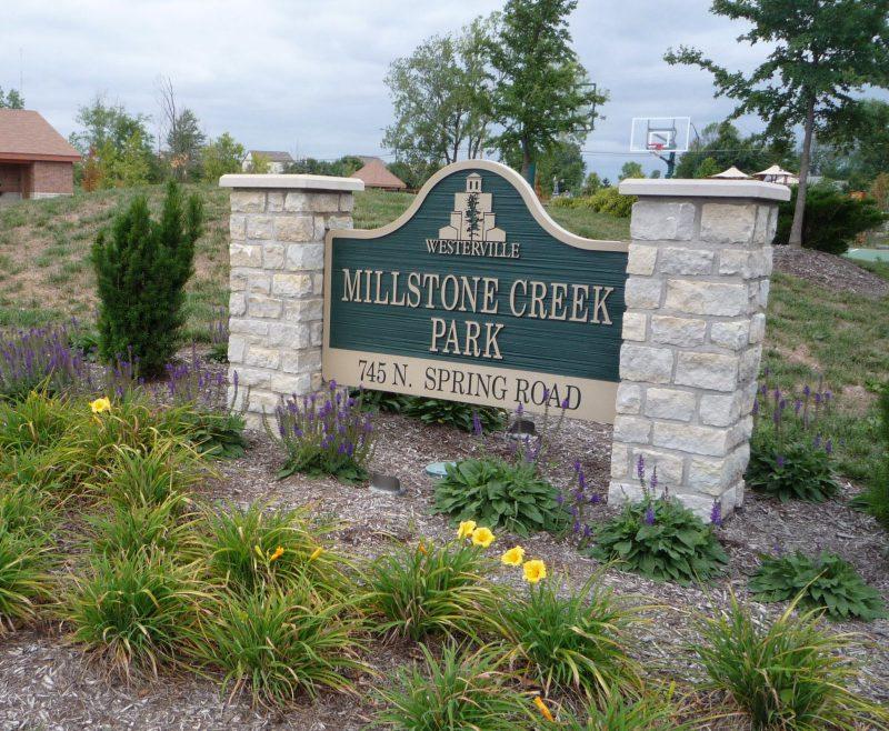 写真:公園入り口の看板