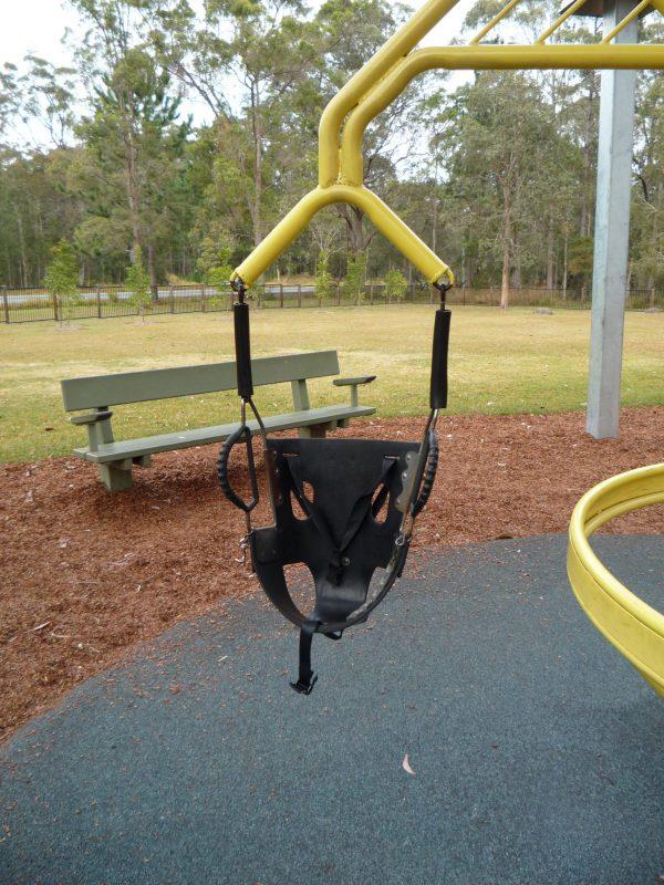 写真:回転遊具のシートのうちのひとつ。サポートタイプ